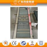 Porte en aluminium de tissu pour rideaux en verre givré pour la pièce de douche