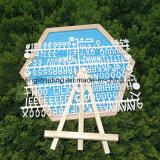 Kundenspezifischer Zoll-Holzrahmen-Filz-Zeichen-Vorstand der Größen-10X10 mit Plastikzeichen