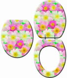 Nuevo asiento de inodoro de MDF con flores de impresión