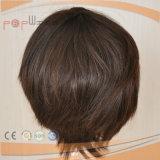 Aprire la parrucca poco costosa delle donne di colore del Brown delle trame (PPG-l-0643)