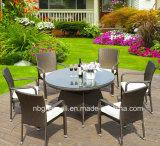 Conjunto al aire libre cómodo del vector Mano-Que teje y de los muebles de la silla