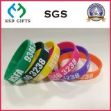 fait sur mesure à la promotion du Silicone/Silicone Bracelets pour les imprimés (KSD-825)