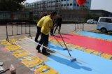 Plancher de béton peinture époxy époxy 3D-de-chaussée