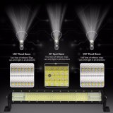 """Cubierta de aluminio aprobada 1080W 52 del PUNTO 8d IP68 12V """" 20 44inch 4 barra ligera de la fila LED"""