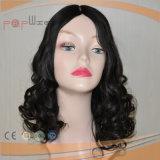 Peluca superior de seda rizada del pelo brasileño superior del grado (PPG-l-0163)