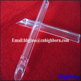 Cono de la transparente de resistencia al calor del tubo de vidrio de sílice fundida