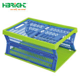 日常生活の多彩なFoldableプラスチック木枠の小さい収納箱