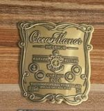 Couleurs étiquette de vin en métal, une vignette de l'aluminium