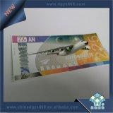Ticket de la marca de agua con Holograma