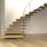 Diseño helicoidal curvado moderno de la escalera de las escaleras de cristal