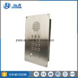 Chambre propre analogique/téléphones SIP, encastrable ascenseur téléphone avec corps en acier inoxydable et clavier