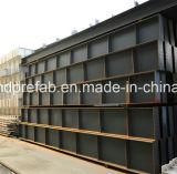 Edificio de la estructura de acero para el taller y el almacén con el SGS