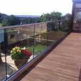 Balcón de cristal moderno de la cerca del jardín/de la cerca de la terraza/cercado decorativo del jardín