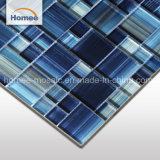 12X12 de la pintura de mano ladrillos irisados Plaza común mezclar Mosaico piscina azul