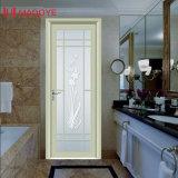 Madoye Aluminiumglastür mit dekorativem Gitter für Badezimmer