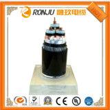 Cabo Voltag baixa/dois condutores de cobre XLPE fio de aço revestida de PVC de isolamento do cabo de alimentação blindados Cu/XLPE/Swa/PVC IEC60502-1