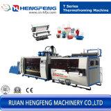 Máquina plástica automática Hftf-70t de Thermoforming de la taza que empila