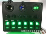 6一団LED車のボートのCarling様式のロッカースイッチパネル2 USBのソケットのパワープラグの電圧計