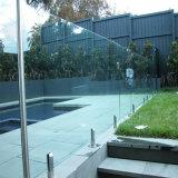 Cerca de cristal caliente de la piscina de la barandilla del acero inoxidable de la venta con la espita de cristal