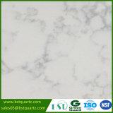controsoffitto bianco artificiale della pietra del quarzo di 2cm/3cm con le vene grige