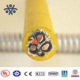 Olio in scatola/nudo del rivestimento di CBE dell'isolamento del rame EPDM ha resistito al cavo elettrico portatile di gomma
