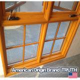 Diseño de California, EE.UU. de aluminio madera Casement ventana dividida Lites