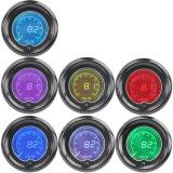 2  LEIDENE van de Auto van het Voltage van de Volt van de Kleur van 52mm de Blauwe Rode 7 Digitale Tint Len van de Maat