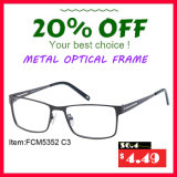 China Wholesale Full-Rimless Frame Metal Optical Frame para Homens