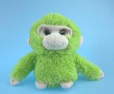 ローズの赤く柔らかいプラシ天猿のおもちゃ