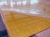 2017 Golden scintillant populaire feuille acrylique
