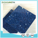 La chispa azul / negro / blanco puro espejo encimera de piedra de cuarzo