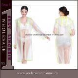 Abbassare l'indumenti impermeabili di plastica leggero dell'impermeabile di EVA delle donne di quantità (SK-A308)