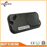 Cartão ativo de RFID com etiqueta traseira e furo para o recurso que segue 200 medidores