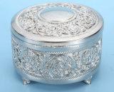 Коробка ювелирных изделий металла, коробка ювелирных изделий 4 отсеков