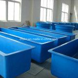 Serbatoio di pesci di plastica di /Square del serbatoio di pesci della vetroresina dell'impresa di piscicolture di FRP