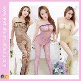 Donne trasparenti Bodystocking del Fishnet sexy del merletto che mostra a capezzolo calza erotica