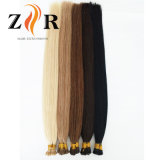 Extensão minúscula desenhada natural do cabelo humano da ponta do cabelo indiano da cor de Brown