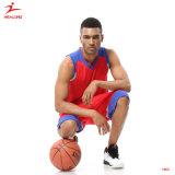 Healongの上の販売のスポーツ・ウェアの男女兼用の昇華印刷のバスケットボールジャージー