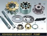 置換の川崎シリーズ油圧油ポンプのエンジン部分K3V45/63/112の予備品