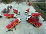 33m 37m (HOWO)のトラックによって取付けられる具体的なポンプ新しい機械装置の具体的なポンプトラック