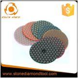 돌 화강암 또는 대리석 또는 구체적인 건조한 유연한 닦는 패드