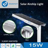 15W lámpara de calle solar del jardín de los productos LED con el panel solar
