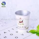 Taza doble de encargo del papel de empapelar con té en parte inferior de la taza