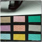 多彩なPUの革女性の革靴の革(S188080)
