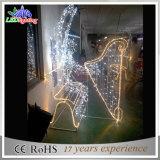 Im Freien 3D Straßen-Weihnachtswinkel-dekoratives Licht des Motiv-LED