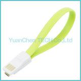 Micro cabo liso do carregador dos dados USB2.0 5pin para o telefone Android