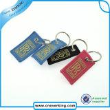 Ricamo su ordinazione Keychain dell'anello chiave del poliestere della catena chiave
