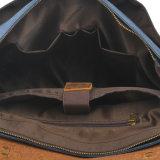 Nouvelle conception vintage Sacoche pour ordinateur portable en cuir véritable toile pour l'homme (RS-6807D)