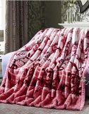 Напечатанное полиэфиром 100% одеяло норки Raschel