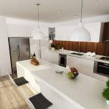 Gabinetes de cozinha de madeira internos da laca branca do projeto de Oppein Austrália (OP14-L03)